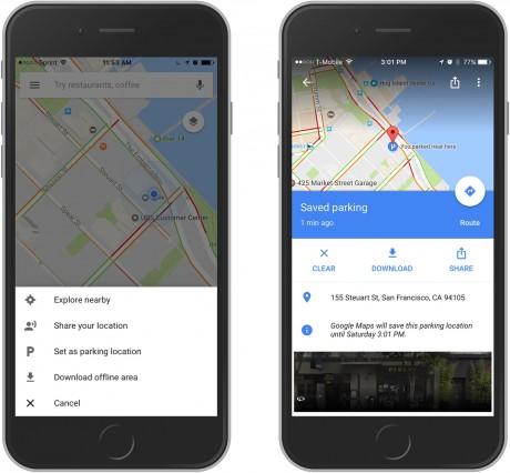 Google Maps Improves Parking Spot Finder (Phone Scoop) on