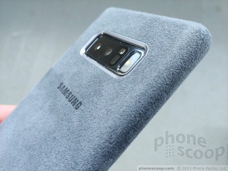 sports shoes 99183 63855 Review: Samsung Alcantara Case for Galaxy Note8 (Phone Scoop)
