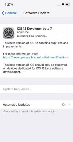 Apple Seeds iOS 12 Beta 7 to Developers