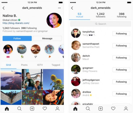 Instagram Testing New Profile Design