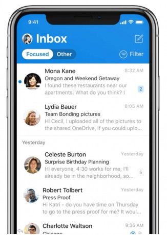 Microsoft Redesigns Outlook for iOS to Help Speed Users' Tasks