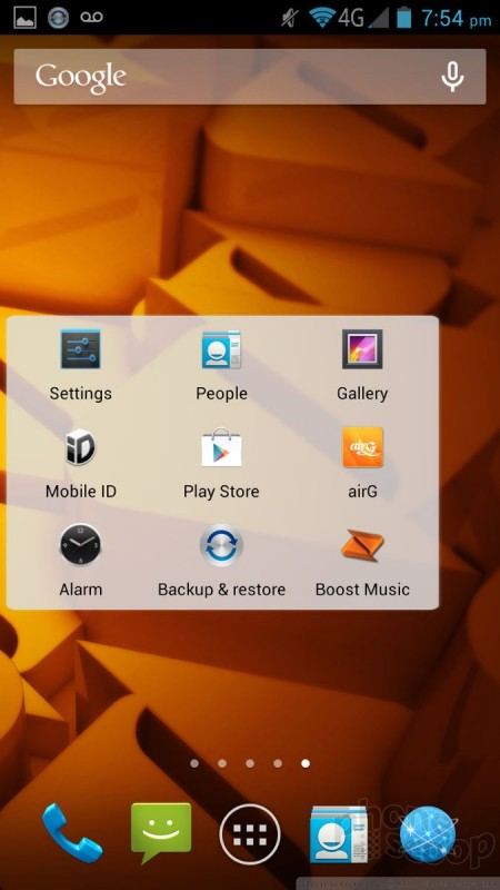 Review: ZTE Max for Boost Mobile: Basics : Basics (Phone Scoop)