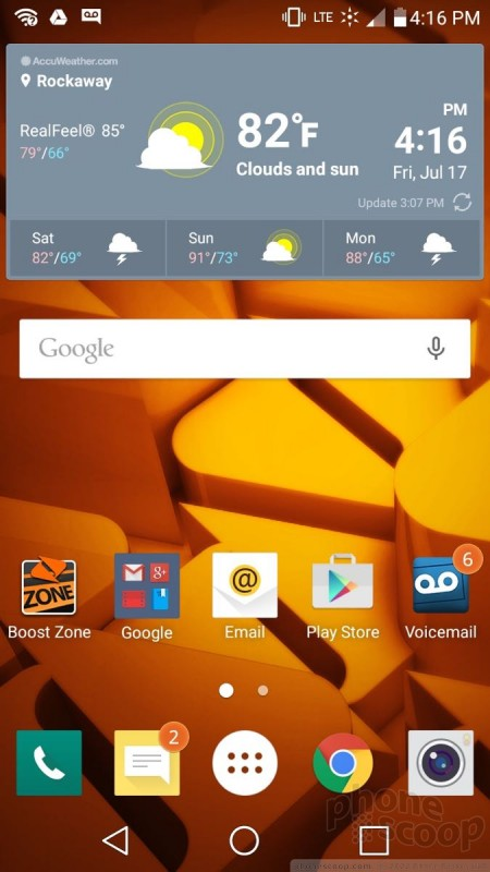 Review: LG Volt 2 for Boost Mobile: Software : Software