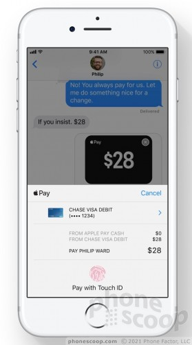 Apple Pay in iMessage