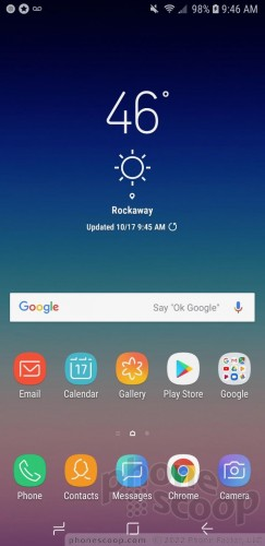 Review: Samsung Galaxy A6 for Sprint: Software : Software